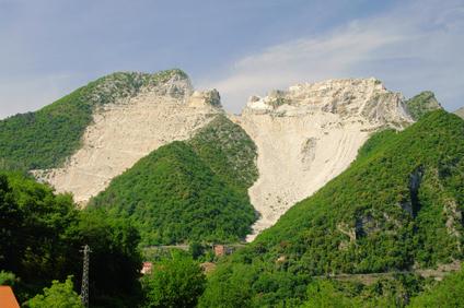 Carrara Marmor Steinbruch - Carrara  marble stone pit 10
