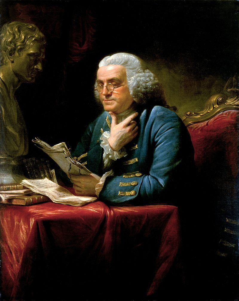 Portrait of Benjamin Franklin by David Martin (1767)