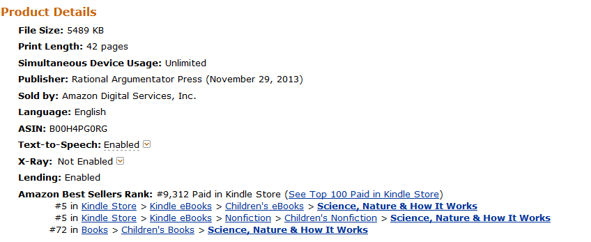 """Amazon Kindle Store Ranking for """"Death is Wrong"""" - Late March 16, 2014"""