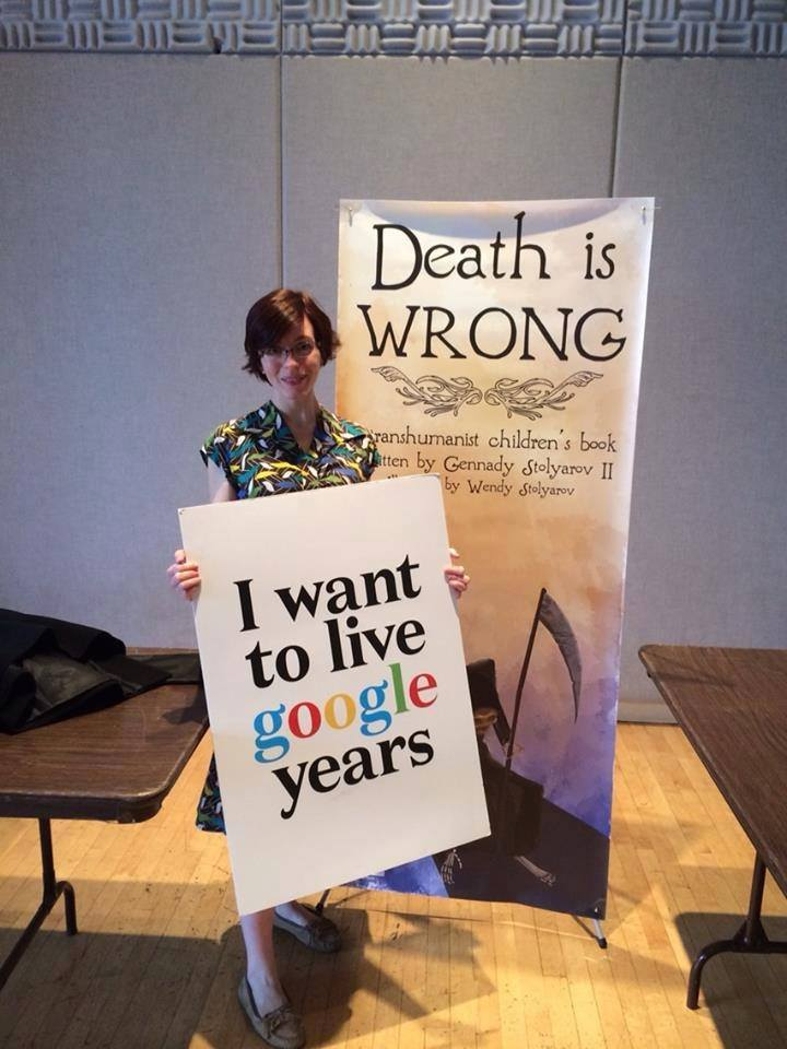 """Wendy Stolyarov, Illustrator of """"Death is Wrong"""", at the Transhuman Visions 2.0 Conference - March 1, 2014"""
